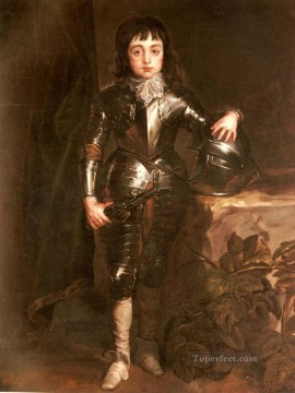 Portrait Of Charles II When Prince Of Wales Baroque court painter Anthony van Dyck Oil Paintings
