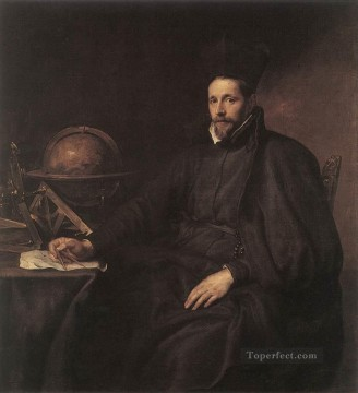 Della Painting - Portrait of Father Jean Charles della Faille S J Baroque court painter Anthony van Dyck