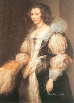 Maria Painting - Portrait of Maria Lugia de Tassis Baroque court painter Anthony van Dyck