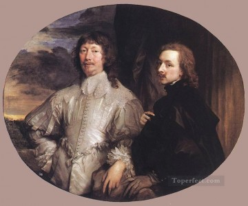 Anthony van Dyck Painting - Sir Endymion Porter and the Artist Baroque court painter Anthony van Dyck