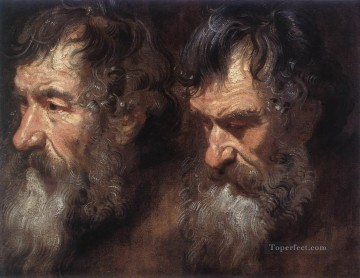 baroque - Studies of a Mans Head Baroque court painter Anthony van Dyck