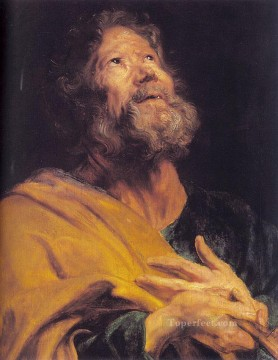 Apostle Art - The Penitent Apostle Peter Baroque court painter Anthony van Dyck