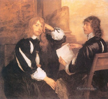 Thomas Killigrew and William Lord Crofts Baroque court painter Anthony van Dyck Oil Paintings