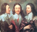 Charles I in Three Positions Baroque court painter Anthony van Dyck