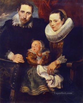 Family Portrait Baroque court painter Anthony van Dyck Oil Paintings