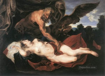 Jupiter and Antiope Baroque mythological Anthony van Dyck Oil Paintings
