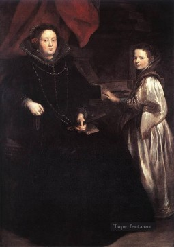 Anthony van Dyck Painting - Portrait of Porzia Imperiale and Her Daughter Baroque court painter Anthony van Dyck