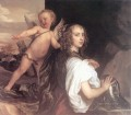 Portrait of a Girl as Erminia Accompanied by Cupid Baroque court painter Anthony van Dyck