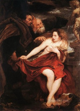 Anthony van Dyck Painting - Susanna and the Elders Baroque court painter Anthony van Dyck
