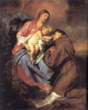 The Vision of Saint Anthony Baroque biblical Anthony van Dyck Oil Paintings