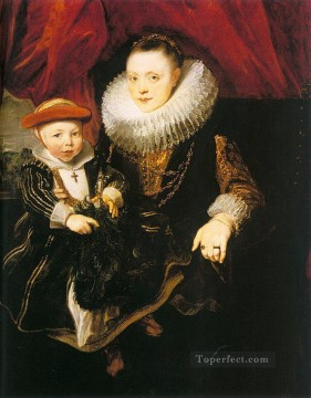 baroque - Young Woman with a Child Baroque court painter Anthony van Dyck