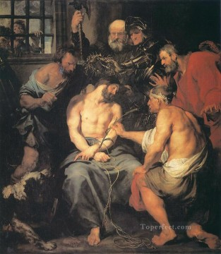 Row Painting - Crowning with Thorns Baroque biblical Anthony van Dyck