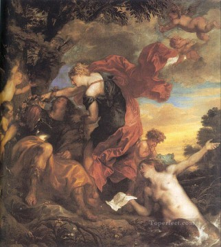 Rinaldo and Armida Baroque court painter Anthony van Dyck Oil Paintings