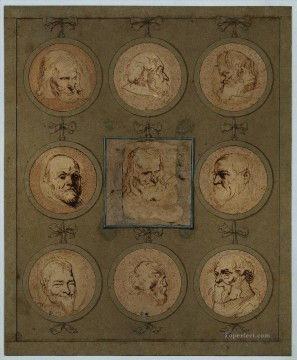 baroque - Sheet of Studies Baroque court painter Anthony van Dyck