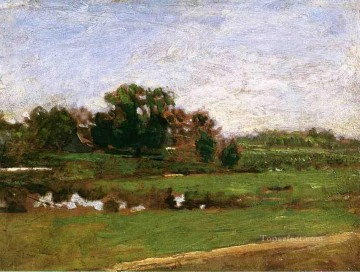 Study forThe Meadows Gloucester New Jersey Realism landscape Thomas Eakins Oil Paintings