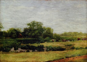 realism painting - The Meadows Gloucester Realism landscape Thomas Eakins