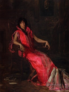 portraits Art Painting - An Actress aka Portrait of Suzanne Santje Realism portraits Thomas Eakins