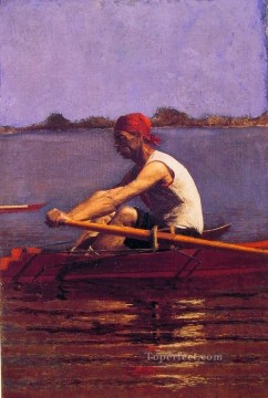 Thomas Eakins Painting - John Biglin in A single Scull Realism portraits Thomas Eakins