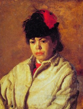 Margaret in Skating Costume Realism portraits Thomas Eakins Oil Paintings