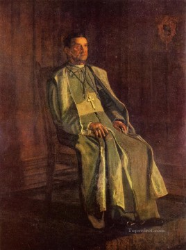 Thomas Eakins Painting - Monsignor Diomede Falconia Realism portraits Thomas Eakins