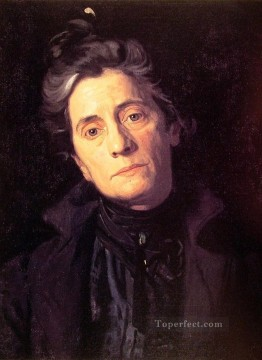 Mrs Thomas Eakins Realism portraits Thomas Eakins Oil Paintings