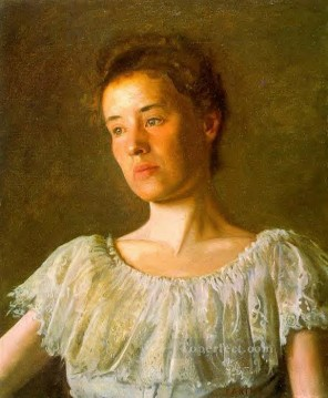 portrait portraits Painting - Portrait of Alice Kurtz Realism portraits Thomas Eakins