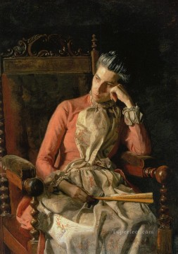 Portrait of Amelia Van Buren Realism portraits Thomas Eakins Oil Paintings