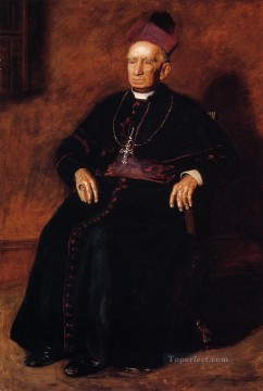 Thomas Eakins Painting - Portrait of Archbishop William Henry Elder Realism portraits Thomas Eakins