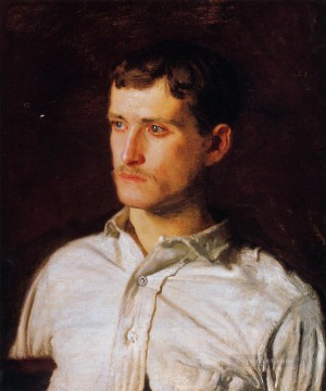 portrait portraits Painting - Portrait of Douglass Morgan Hall Realism portraits Thomas Eakins
