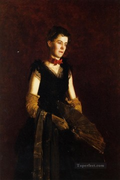 portrait Painting - Portrait of Letitia Wilson Jordan Realism portraits Thomas Eakins