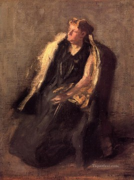 Portrait of Mrs Hubbard sketch Realism portraits Thomas Eakins Oil Paintings