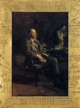 Row Painting - Portrait of Professor Henry A Rowland Realism portraits Thomas Eakins