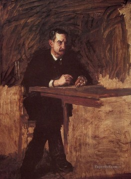 portrait portraits Painting - Portrait of Professor Marks Realism portraits Thomas Eakins