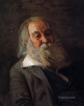 Portrait of Walt Whitman Realism portraits Thomas Eakins Oil Paintings