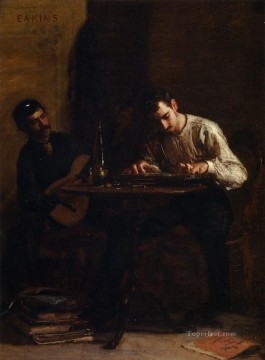 Thomas Eakins Painting - Professionals at Rehearsal Realism portraits Thomas Eakins