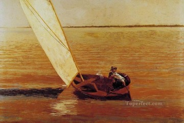 Thomas Eakins Painting - Sailing Realism seascape Thomas Eakins