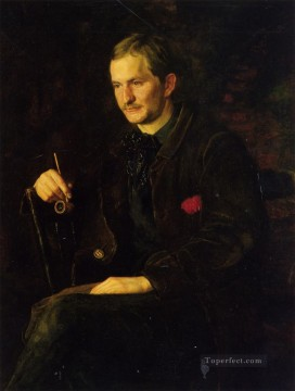 realism - The Art Student aka Portrait of James Wright Realism portraits Thomas Eakins