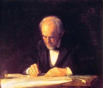 Thomas Eakins Painting - The Writing Master Realism portraits Thomas Eakins