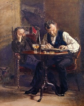portraits Art Painting - The Zither Player Realism portraits Thomas Eakins