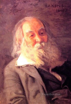 Walt Whitman Realism portraits Thomas Eakins Oil Paintings