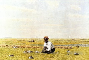 realism painting - Whistling for Plover Realism Thomas Eakins