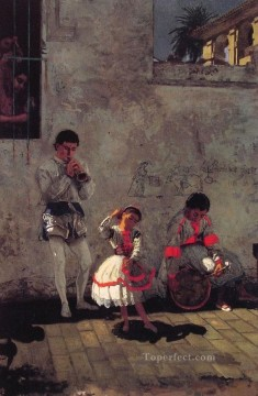 A Street Scene in Seville Realism Thomas Eakins Oil Paintings