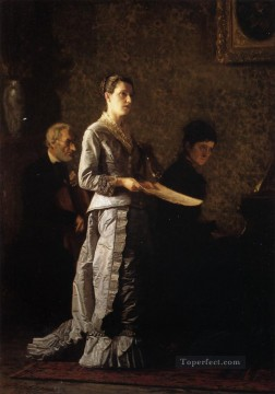 portraits Art Painting - Singing a Pathetic Song Realism portraits Thomas Eakins