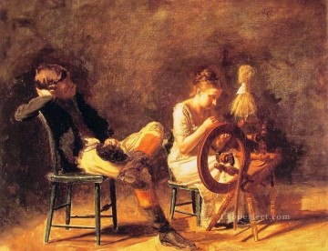 realism painting - The Courtship Realism Thomas Eakins