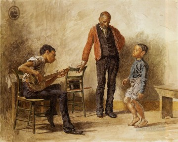 Thomas Eakins Painting - The Dancing Lesson Realism Thomas Eakins