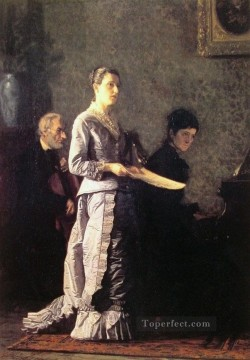 Thomas Eakins Painting - The Pathetic Song Realism Thomas Eakins