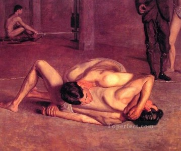 The Wrestlers Realism Thomas Eakins Oil Paintings
