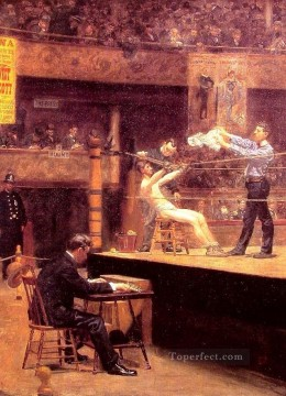 Thomas Eakins Painting - Between Rounds Realism Thomas Eakins