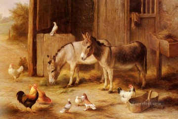 Friends Art - Farmyard Friends poultry livestock barn Edgar Hunt