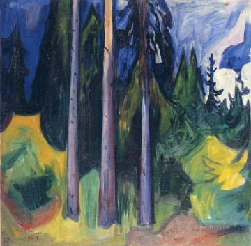 Edvard Munch Painting - forest 1903 Edvard Munch